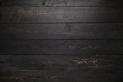 黑木桌纹理背景 免版税库存图片