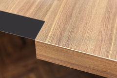 木桌细节 免版税库存照片