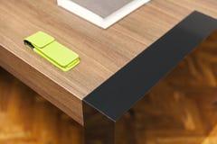 木桌细节 图库摄影