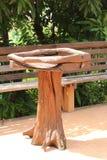 木桌 库存照片