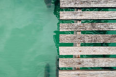 木桥地板 图库摄影