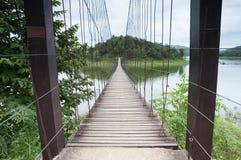 木桥梁 免版税库存照片