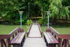 木桥梁 图库摄影