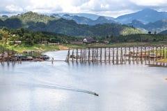 木桥看法长期是第二在世界上 免版税库存图片