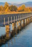 木桥,圣詹姆斯,湖瑞士苏黎士方式  库存图片