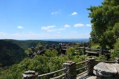 木桶匠的岩石状态森林 库存照片