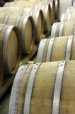 木桶特写镜头成熟和存放的酒2 图库摄影