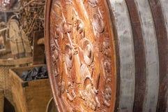 木桶老的酒 免版税库存图片