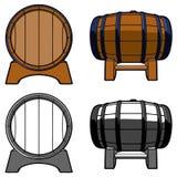 木桶集合颜色前方 免版税库存照片