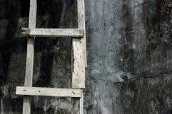 木梯子 库存照片