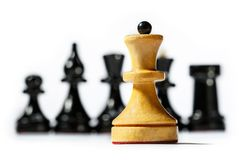 木棋枰 免版税库存图片