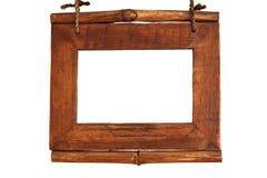 木棕色的框架 免版税库存图片