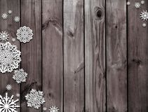 木棕色的纹理 神奇圣诞夜 冬天 黑褐色圣诞节背景 雪和雪花 库存图片