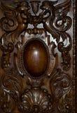 木棕色被定调子的室内装璜,特写镜头的片段 免版税库存图片