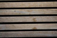 木棕色长的板条 免版税库存照片