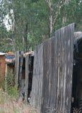 木棚子的边 库存图片
