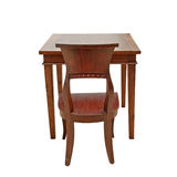 木椅子和表 库存图片
