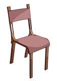 木椅子,传染媒介例证 免版税库存照片