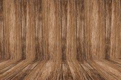 木楼层和墙壁 免版税库存照片