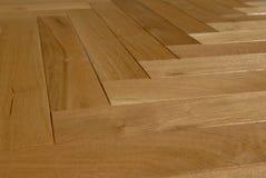 木楼层的木条地板 免版税库存照片
