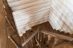木楼梯环境 免版税图库摄影