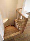 木楼梯 图库摄影