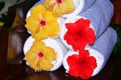 木槿毛巾 免版税图库摄影
