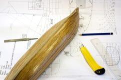 木模型的缩放比例 库存图片