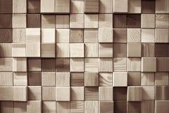 木正方形墙壁 图库摄影