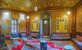 木沙龙在Manial复合体,开罗, E招待会宫殿  免版税库存图片