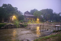 木河上的桥 图库摄影