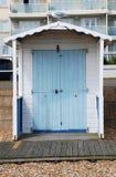 木海滩小屋, Bexhill 库存照片