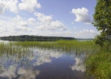 木湖。 库存图片