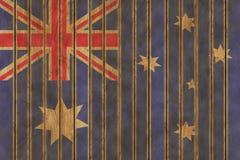 木澳大利亚旗子 库存图片
