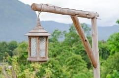 木灯笼 免版税库存照片