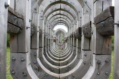 木灰色隧道 库存图片