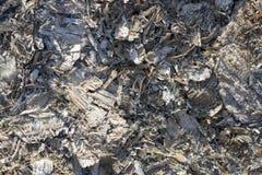 木灰,从被烧的木柴的灰背景  库存照片