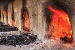 木灼烧的烤箱 免版税库存图片