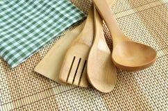 木炊事用具 库存图片
