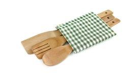 木炊事用具 图库摄影