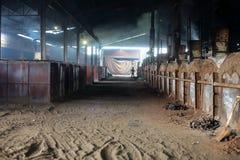 木炭工厂 免版税库存照片