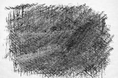 木炭手图画纹理。 免版税库存照片
