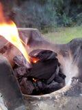 木炭格栅 库存图片