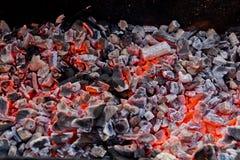 木炭火。 库存图片