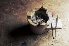 木炭火炉 库存照片