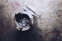 木炭火炉1 免版税库存照片
