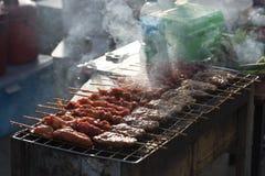 木炭烤烤肉 库存照片