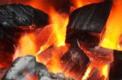 木炭烧给热能 免版税库存图片