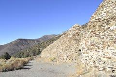 木炭窑在死亡谷 免版税库存照片
