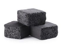 木炭立方体 免版税库存照片